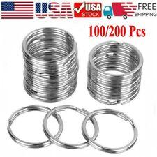 100/200PCS Key Rings Chains Split Ring Hoop Metal Loop Steel Accessories 25mm