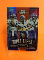 2018 CONTENDERS OPTIC FOOTBALL VIKINGS TRIPLE THREAT #TT-MIN ORANGE PARALLEL /49