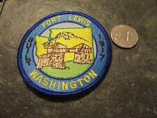 Fort Lewis Army Base Puget Sound Tacoma Washigton Patch crest badge