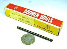 """12 Dormer #20 Hss Spotting Twist Drill 2 1/4"""" L Flute Blk Oxide 2"""" L .161"""" D"""