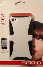 Seidio Active Series Dual Layer Case Cover For iPhone 4S / 4 (White)