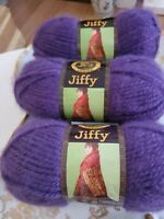 Lion Brand Jiffy Yarn  Lot of 3/Three Skeins Violet BRAND NEW