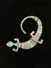 Native American Zuni Sterling and Turquoise Pin