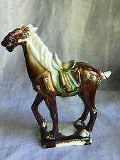 7.5� Chinese Tang Dynasty Ceramic Majolica Drip Glaze Riding Horse Reproduction?