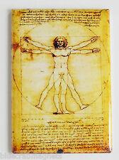 Vitruvian Man FRIDGE MAGNET (2 x 3 inches) poster leonardo da vinci painting