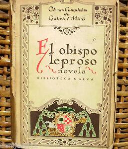 Primera edición/ 1926/ El obispo leproso/ Gabriel Miró/ Espasa-Calpe