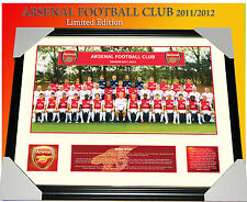 ARSENAL FC 2011/12 TEAM MEMORABILIA FRAMED LIMITED 499