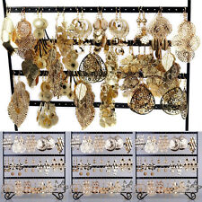 12 pairs Wholesale Jewelry lots Mixed Style Gold Plated Women Dangle Earrings