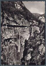 BERGAMO VALLE di SCALVE 01 VIA MALA VIAMALA Cartolina FOTOGRAFICA viaggiata 1952