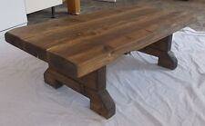 New Hand Made Rustic Coffee Table - Stained in Jacobean Oak