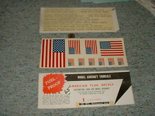SIG Mfg  decals US Flags Warning signs for planes No Step etc   G16