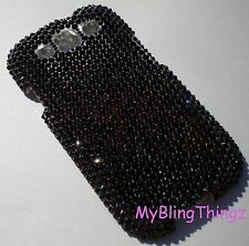 BLACK Crystal Rhinestone Back Case for Samsung Galaxy S3 with Swarovski Elements