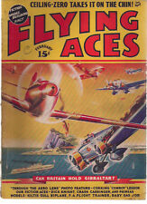 FLYING ACES Pulp Magazine February 1939 Schomburg Al McWilliams Dick Knight tale