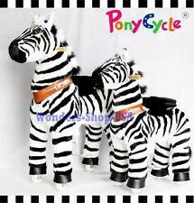 PONYCYCLE ZEBRA Rock Walk Ride On Toy Horse PONY Medium for Children Age 4-9