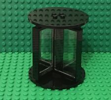 Lego MOC City Black Revolving Door W/ 1x4x6 Trans-clear Glass And 8x8 Round Tile