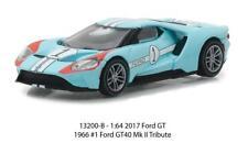 1/64 Greenlight Heritage Racing 2017 Ford GT 40 MK II Tribute #1 Blue 13200B
