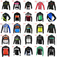 Men Bike Tops Long Sleeve Cycling Jersey Quick Dry Bicycle Uniform Cycling Shirt