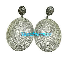 Solid 925 Sterling Silver Lovely White Topaz Drop dangler Earring jewelry