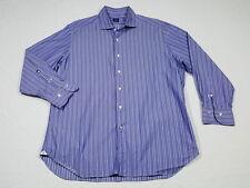 Truzzi Milano 1890 Purple Striped Button Front Shirt XL