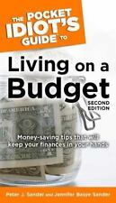The Pocket Idiot's Guide to Living on a Budget by Jennifer Basye Sander,...