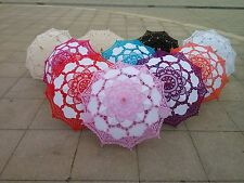 New Vintage Lace Umbrella Handmade Cotton Embroidery Parasol Wedding Decoration