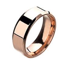 QA_ 8MM Stainless Steel Mens Womens Wedding Engagement Anniversary Ring Band E