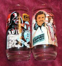 2 Vintage 1980 Star Wars Empire Strikes Back BURGER KING Glass Coca Cola