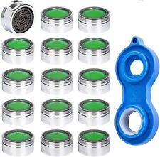 15 x Rompigetto per rubinetto, Filtro aeratore di ricambio, Chiave per montaggio