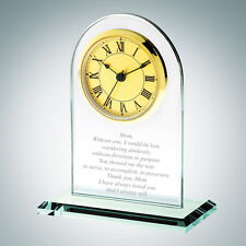 Personalized Gold Roman Arch Clock
