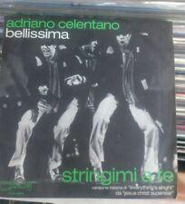 """ADRIANO CELENTANO BELLISSIMA + STRINGIMI A TE  1974 CLAN CLN 2443 ITALY 7""""45 RPM"""