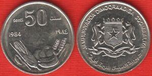 """Somalia 50 senti 1984 km#26a """"FAO"""" XF-AU"""