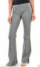 Womens GREY Yoga Pant Comfy Cotton Gym Sports Athletic Mopas A Large Special