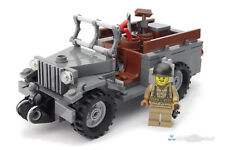 Ww2 WWII CUSTOM US Jeep Dodge wc51 CON MINI PERSONAGGIO & accessori, da LEGO ® pietre