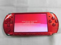 Y3338 Sony PSP 3000 console Radiant Red Handheld system Japan English