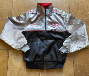Vintage 1988 Indy Indianapolis 500 GMC Trucks Motorsport Satin Jacket Mens Small