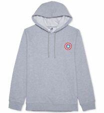 $115 Marvel Men'S Gray Captain America Logo Long-Sleeve Hooded Sweater Size Xl
