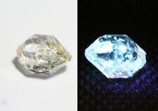 2.9ct Rare Fluorescent Petroleum Enhydro Oil Diamond Quartz Crystal 10x7mm