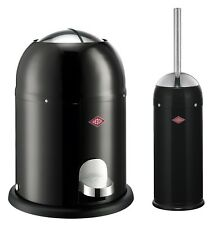 Wesco Mini Kisckmaster Cubo de Basura 6L + Cepillo Baño Inodoro / Sets Negro
