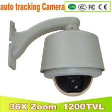 Sony 1200 TVL auto tracking High Speed Dome PTZ CCTV Camera 36x Zoom waterproof
