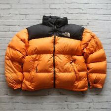 Vintage 90s North Face 700 Down Nuptse Puffer Jacket Size XL Orange Puffy