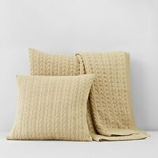 1872 Cable Knit Euro Sham - Bloomingdale's Exclusive $160 TAUPE