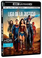 LIGA DE LA JUSTICIA ULTRA HD BLU RAY 4K + BLU RAY NUEVO ( SIN ABRIR )