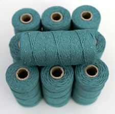 BAKERS TWINE - TEAL AQUA- ONE 100m roll 12ply - Christmas gifts, wedding tags