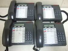 Lot Of 4 Mitel Phone System Superset 4025 Telephone Sets Black Handset