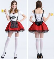 Ladies Beer Maid Wench Costume Oktoberfest Gretchen German Halloween Fancy Dress