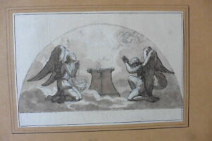 FRENCH NEOCLASSICAL SCHOOL CA. 1800 - RELIGIOUS SCENE CIRCLE GIRODET - INK