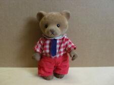 Simba Bärenwald Bär Mann Papa rote Hose rot-weiß kariertes Hemd 11,5 cm Hoch
