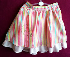 GIRLS STRIPTED PRINT SKIRT WITH UNDERSKIRT. SIZE 7