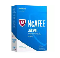 McAfee LiveSafe 2020- 1 Year Unlimited Devices- Global Key - Install new / Renew
