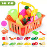 16PC Kid Pretend Role Play Kitchen Fruit Vegetable Food Toy Cutting Holiday Gift